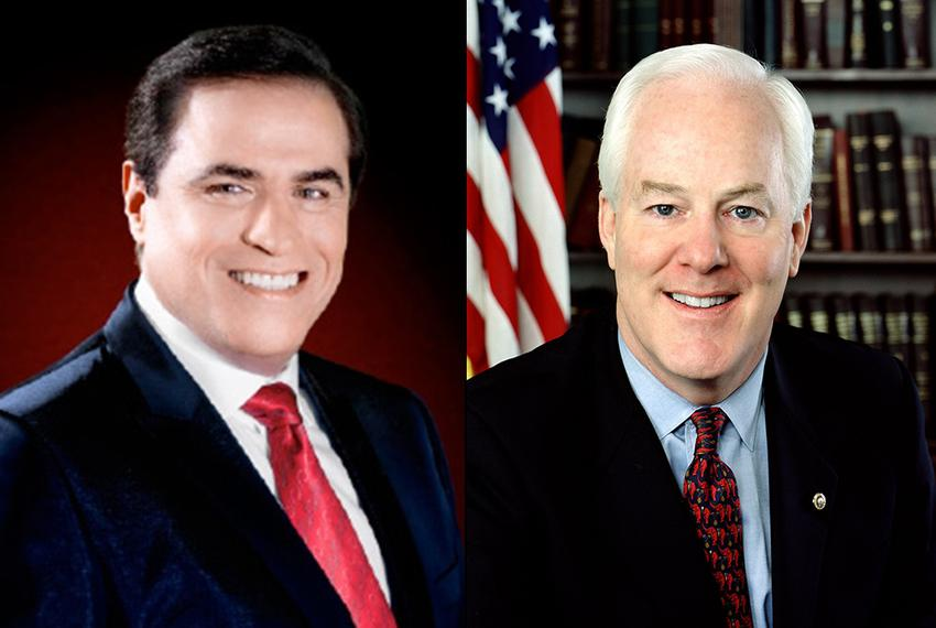Democrat David Alameel (left), is challenging U.S. Sen. John Cornyn, a Republican who was first elected to the Senate in 200…