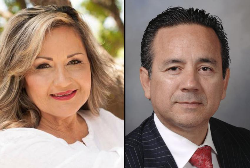 Democrats candidates Helen Madla, left, and incumbent Carlos I. Uresti, right, run in the 2016 election for Texas Senate Dis…