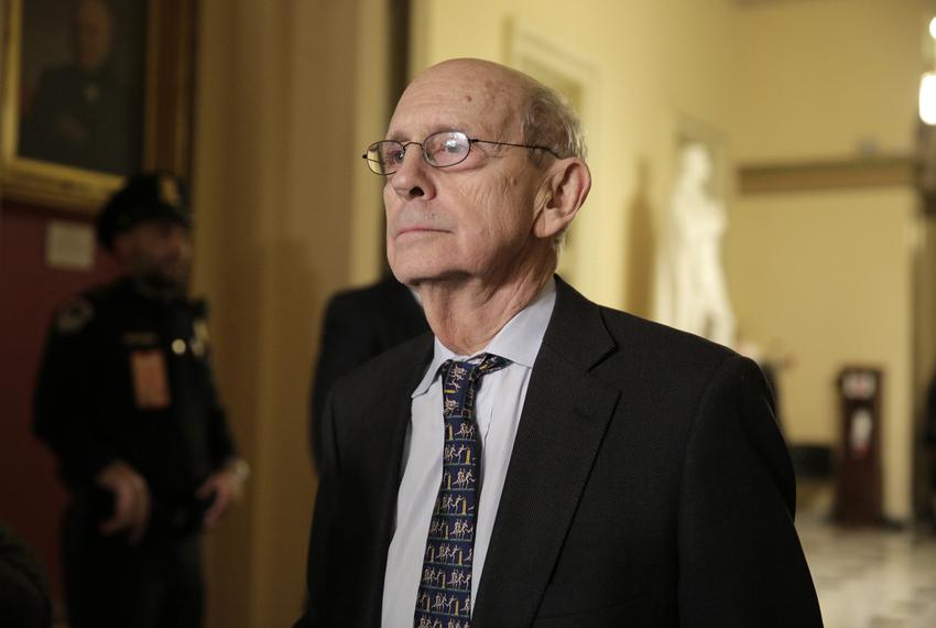 U.S. Supreme Court Associate Justice Stephen Breyer after the conclusion of then-U.S. President Barack Obama's State of the …