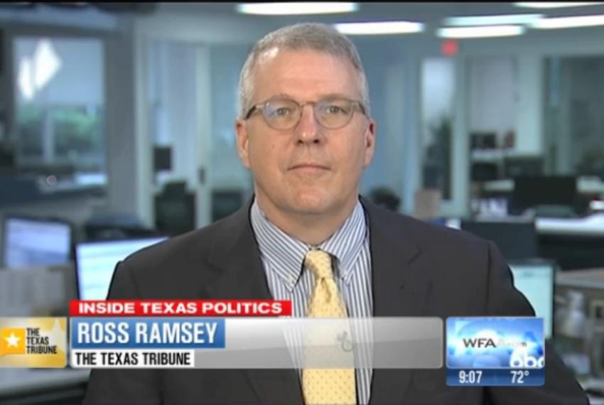 "Texas Tribune Executive Editor Ross Ramsey on WFAA-TV's ""Inside Texas Politics"" on July 20, 2014."