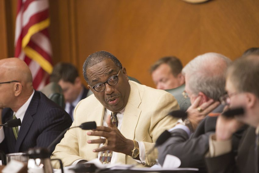 State Sen. Royce West, D-Dallas, during a Senate Finance Committee hearing on Senate Bill 2 on March 14, 2017.