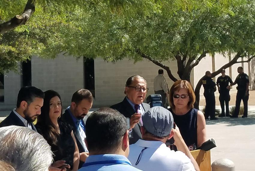 El Paso area state lawmakers (left to right) Reps. César Blanco, Mary González, Joe Moody, Sen. José Rodríguez and Rep. Ev...