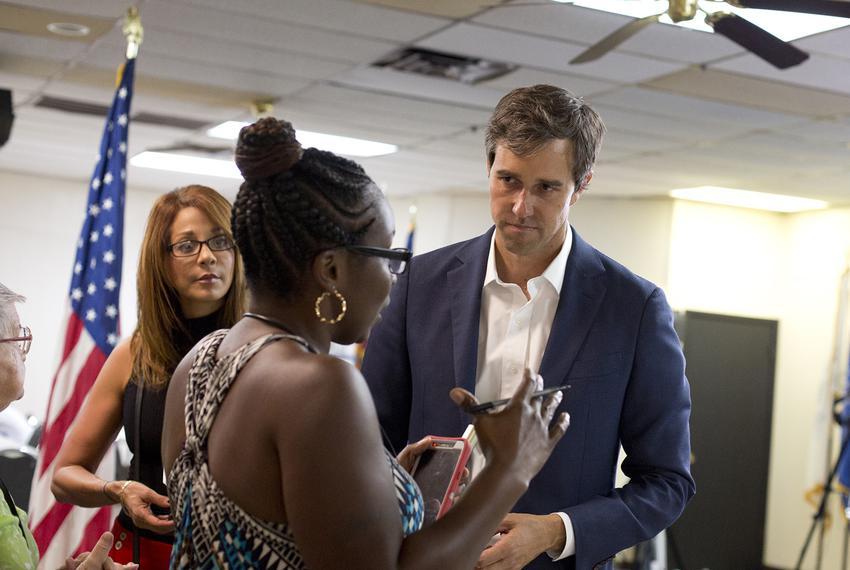 U.S. Rep. Beto O'Rourke, D-El Paso, at a town hall meeting atAmerican Legion Post 223in Killeenon August 22, 2017. O'Rour…