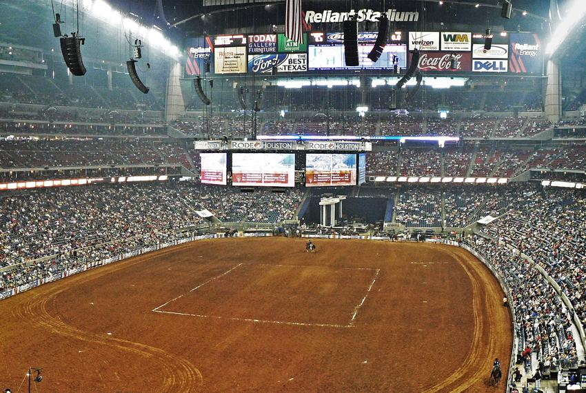 The Houston Livestock Show and Rodeo attracts huge crowds every year.