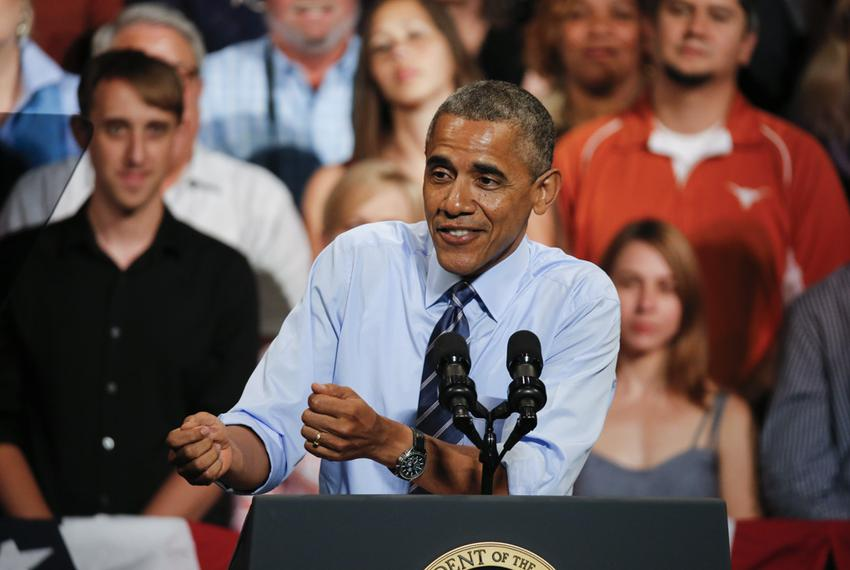 President Barack Obama chastises Republicans in Congress for stonewalling his agenda in a speech July 10, 2014 at the Para...