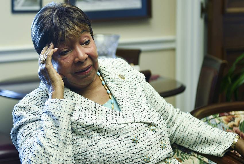 U.S. Rep. Eddie Bernice Johnson, D-Dallas, in her Washington, D.C. office on July 18, 2018.
