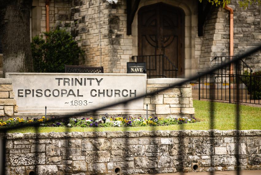 Trinity Episcopal Church in Fort Worth was closed for services March 15, 2020 after a pastor there tested positive for COV...