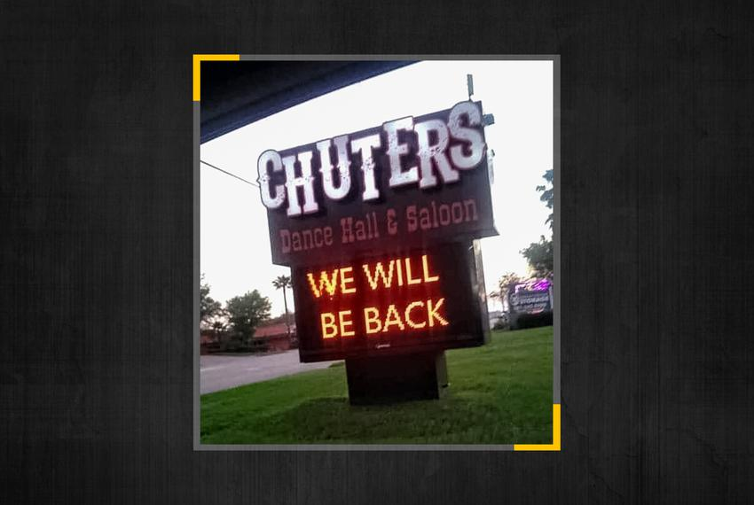 The owners of Chuter's Dance Hall & Saloon in Pasadena, Texas, posted a message Mar. 29, 2020, letting the area know they'd …