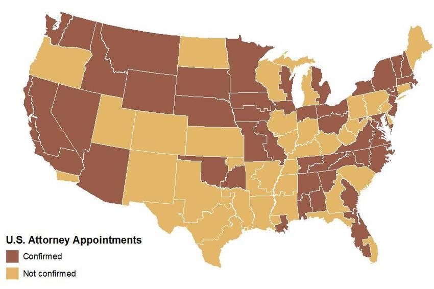 Congress The Texas Tribune - Us attorney map