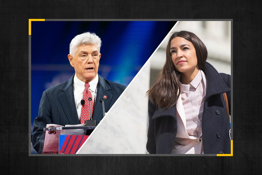 U.S. Rep. Roger Williams, R-Austin and U.S. Rep. Alexandria Ocasio-Cortez, D-New York.