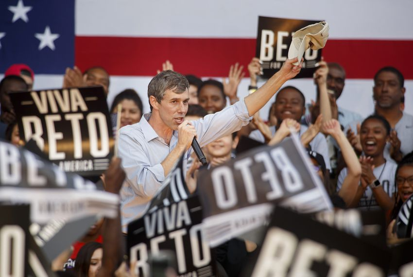 Beto O'Rourke speaks at Texas Southern University in Houston during his presidential campaign kickoff in March.