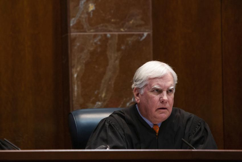 Justice Paul Green hears arguments in the Texas Supreme Court in 2019.