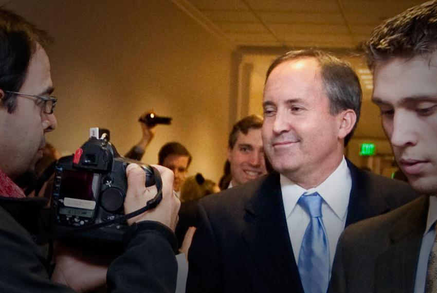 State Rep. Ken Paxton, R-McKinney, after failing to win the endorsement of GOP caucus members for House speaker on Jan. 10, …