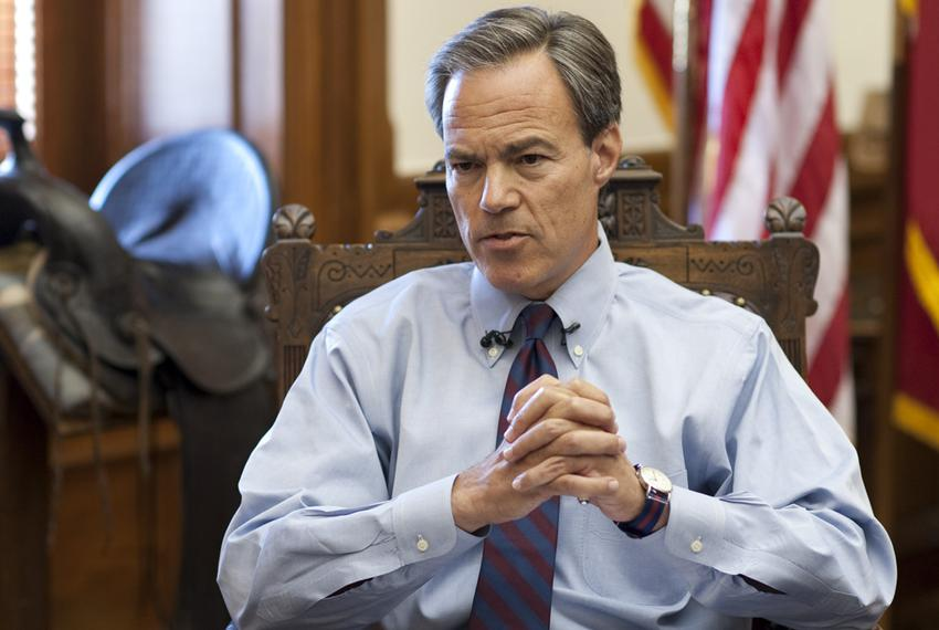 Texas House Speaker Joe Straus, R-San Antonio, ponders a reporter's question at a press briefing May 30, 2012 at the Texas C…