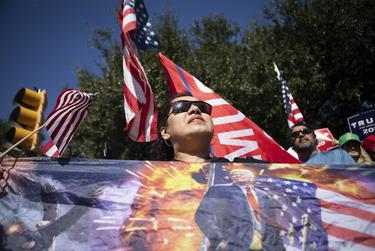 Supporters of President Trump gathered at the state Capitol in Austin to protest the victory of President-elect Joe Biden. Nov. 7, 2020.