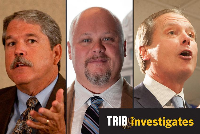 Larry Taylor, Steve Mostyn and David Dewhurst