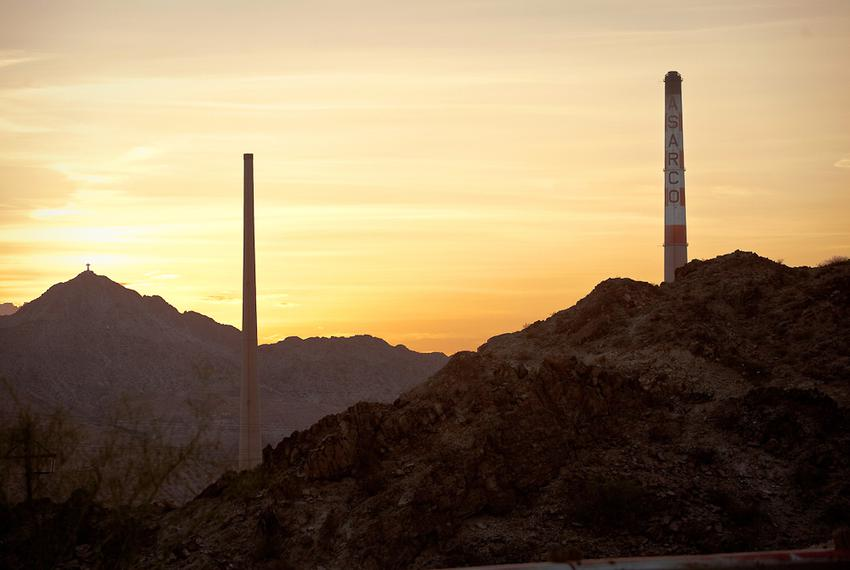 Seen is the ASARCO Smelter site on Sunday July 8, 2012 in El Paso, Texas. The site began operations as a lead smelter in 1...