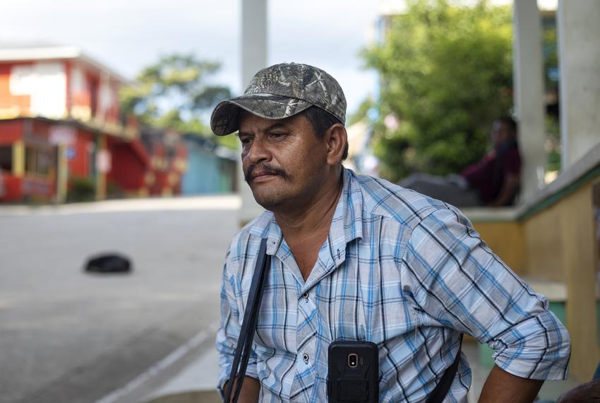 Oscar Marroquin owns a restaurant and operates boat tours in La Tecnica, Guatemala. Nov. 17, 2019.