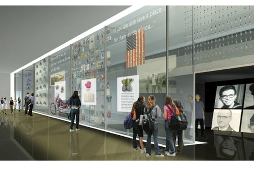 Mockup of the Education Center to be built under the Vietnam Vietnam Veterans Memorial in Washington D.C.
