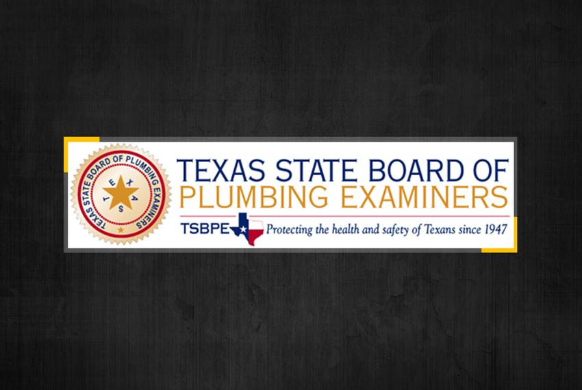 Texas State Board of Plumbing Examiners.