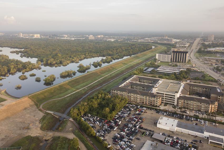 The Barker Dam and Reservoirin Houston on Tuesday, September 19, 2017.