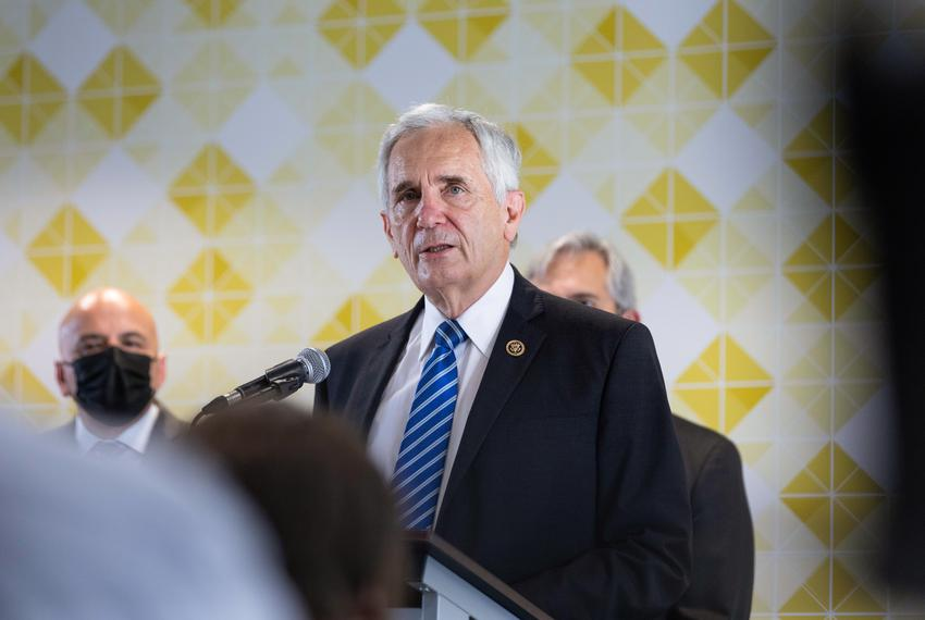 U.S. Rep. Lloyd Doggett D-Texas, at a press conference at Foundation Communities in Austin on Sept. 2, 2021.