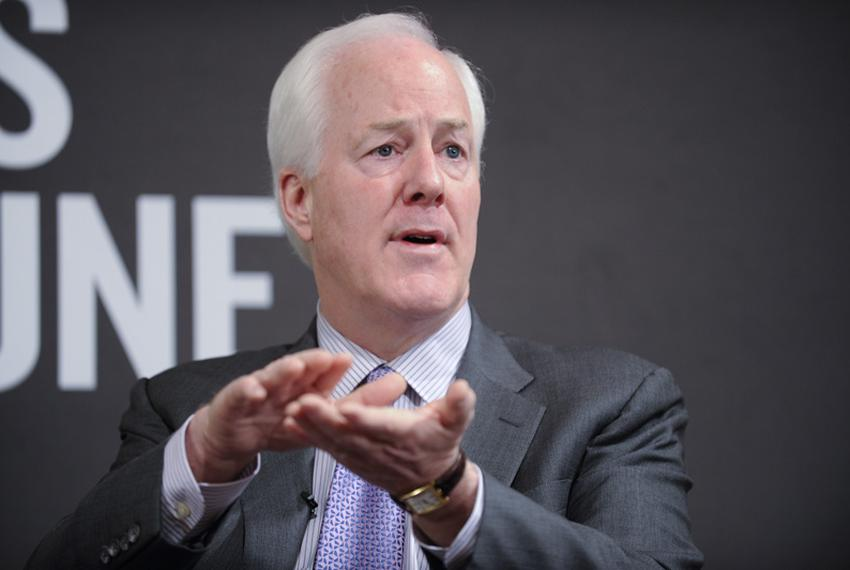 U.S. Sen. John Cornyn, R-Texas, speaks to a TribLive audience on April 18, 2011.