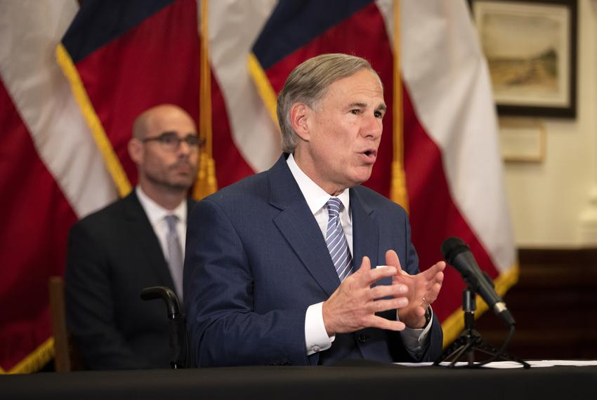 Gov. Greg Abbott announced a strike force in charge of laying steps to re-open the Texas economy at a press conference in ...