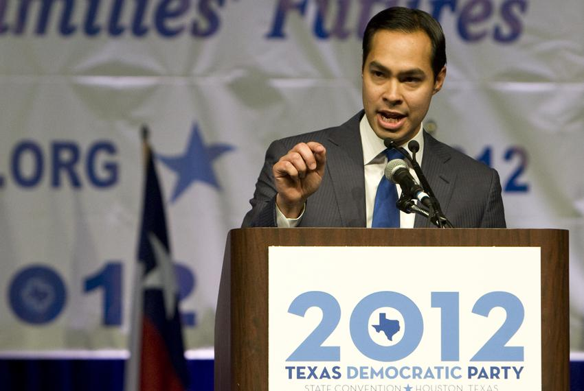 June 8th, 2012: Mayor of San Antonio, Julian Castro gives keynote at the Texas Democratic Convention in Houston, Texas