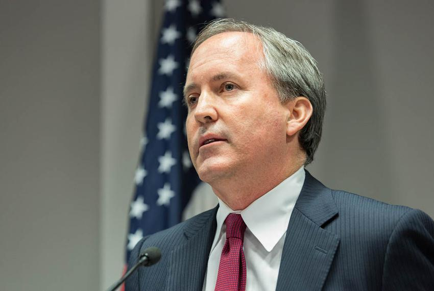 Texas Attorney General Ken Paxton is shown at a news conference in Austin on Jan. 13, 2016, to announce a new unit of the at…