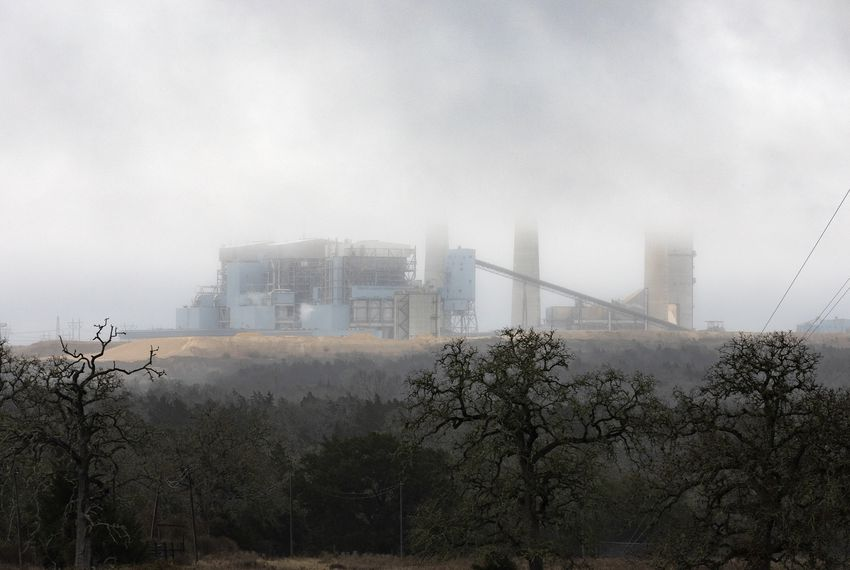 The Fayette Power Project Plant, a coal-fired power plant near La Grange, in Fayette County, is one of 16 Texas coal plants targeted in a new report that claims plant waste pits are leaching pollution into groundwater.