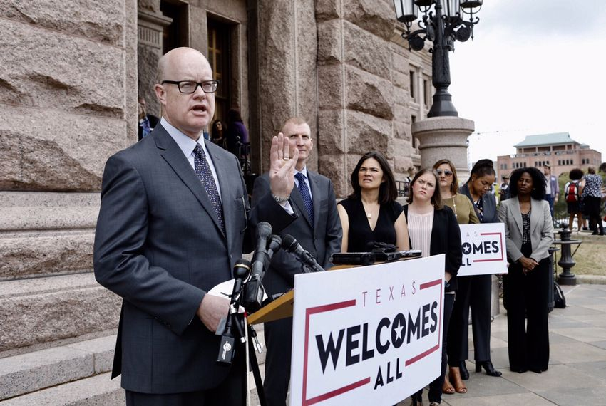 """Austin Convention and Visitors Bureau President and CEO Tom Noonan joined other business leaders in opposition to SB6, the so-called """"bathroom bill, on March 6, 2017."""