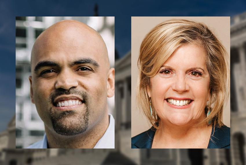 Colin Allred and Lillian Salerno are in the Democratic runoff in May for Texas' 32nd Congressional District. That seat is cu…