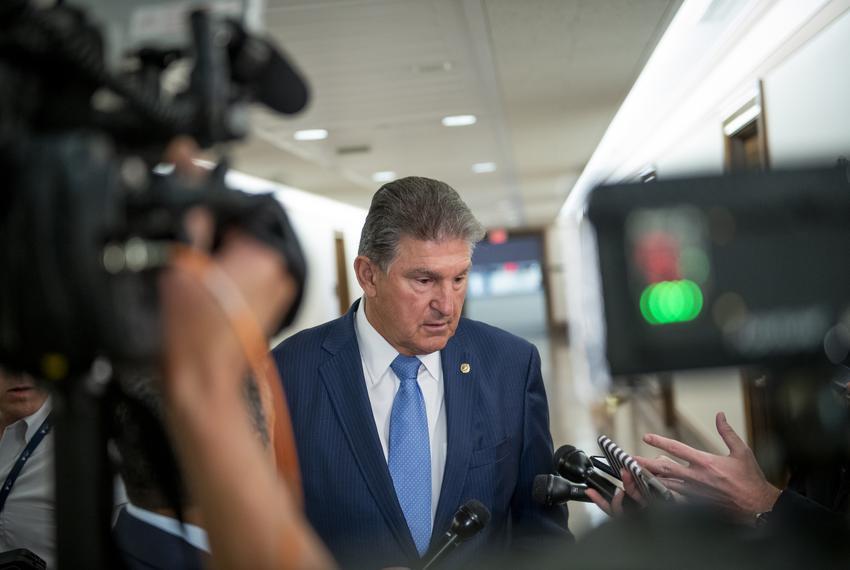 U.S. Senator Joe Manchin III, D-West Virginia, spoke with reporters at the Dirksen Senate Office Building in Washington, D.C…