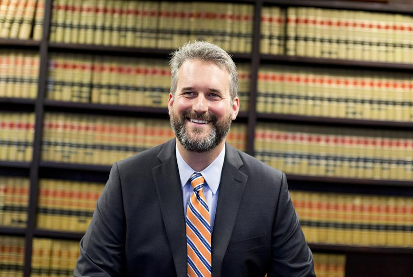 Kyle Hawkins, Texas' new solicitor general, at his Austin office on September 14, 2018.