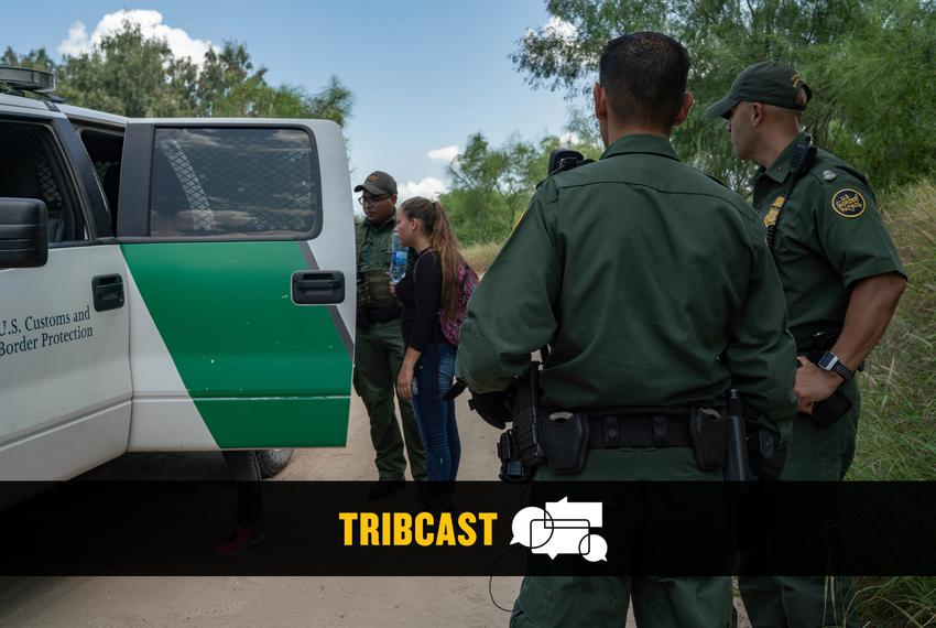 Border Patrol agents apprehend asylum seekers shortly after they crossed the Rio Grande River.