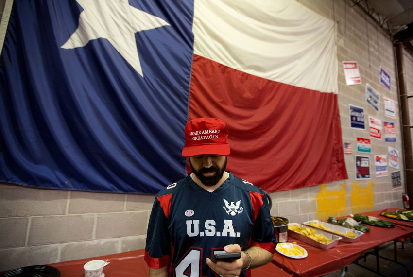 Scenes at the Harris County Republican Party headquarters election watch party  in Houston, Texas on Nov. 8, 2016