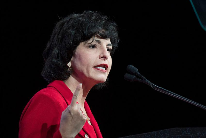 Railroad Commissioner Christi Craddick speaks at the GOP state convention in Dallas, Texas on May 12, 2016.