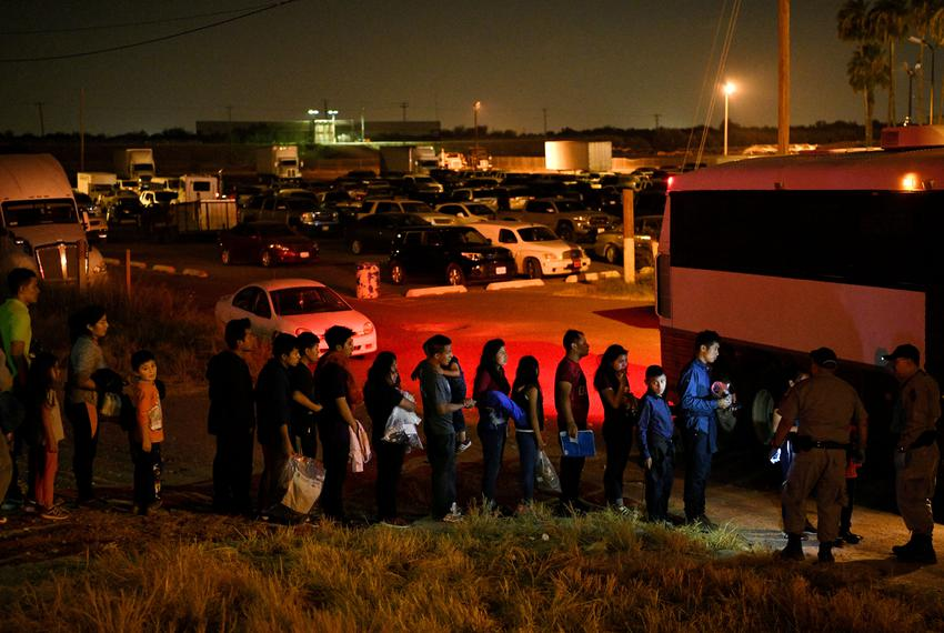 Migrant families who turned themselves in to U.S. Border Patrol to seek asylum after illegally crossing the Rio Grande are...