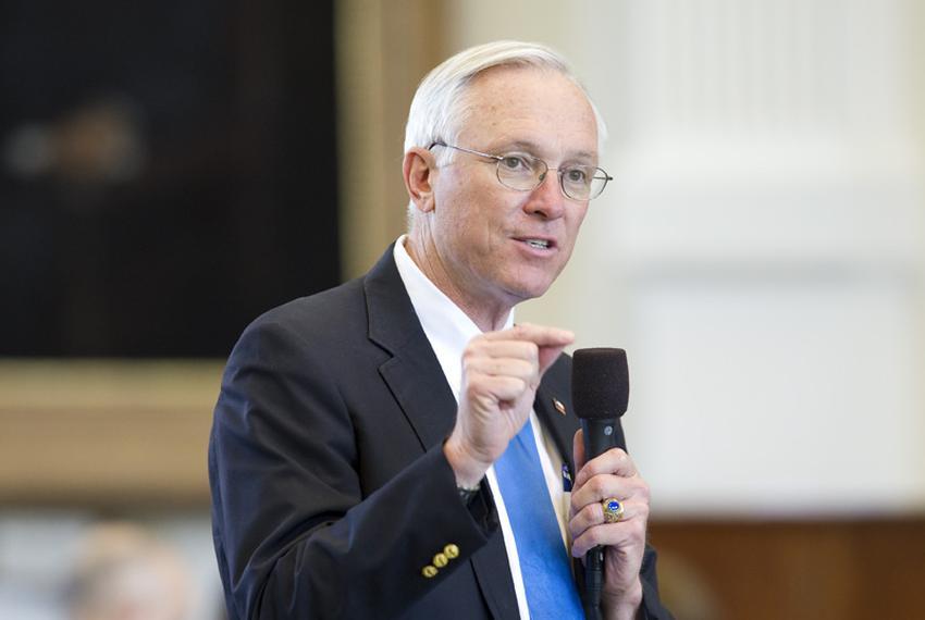 Senate Finance Committee chairman Sen. Steve Ogden, R-Bryan, looks for votes on CSSB1582  a spending bill on April 28, 2011.