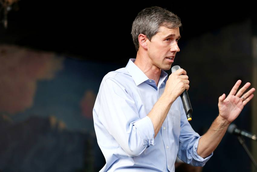Presidential candidate and former U.S. Rep. Beto O'Rourke speaks to supporters at a rally in Austin on June 28, 2019. Fell...