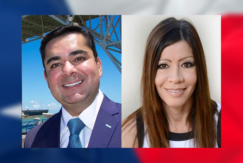 State Rep. J.M. Lozano, R-Kingsville and his Democratic challenger, Marisa Yvette Garcia-Utley.