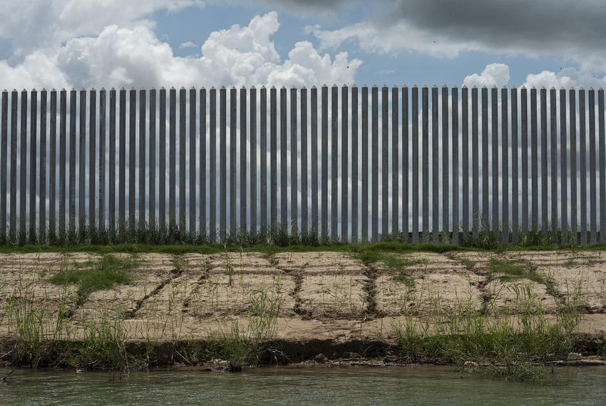 Erosion can be seen along the privately funded border wall that was built less than a year ago on June 19, 2020 in Mission.