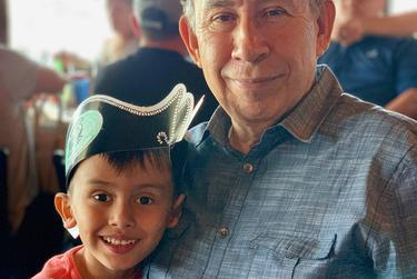 "Alvarado with his great grandson Jacah ""Jake"" Vair in 2019."