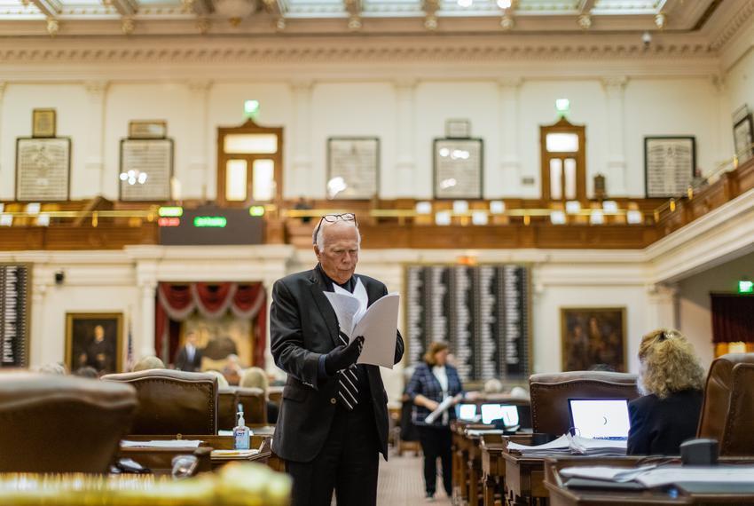 Rep. Todd Hunter, R-Corpus Christi, on the house floor on Thursday, May 13, 2021.