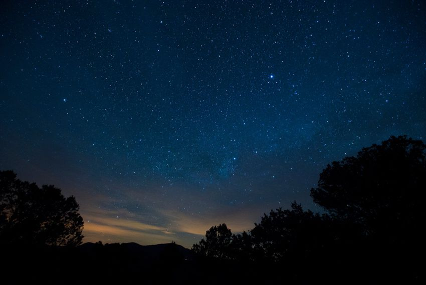 Light pollution on the horizon from oil fields north of McDonald Observatory in Fort Davis on June 18.