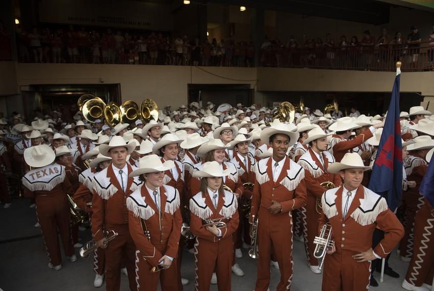 The Longhorn Band at Texas' football game against Louisiana Tech University on Aug. 31, 2019.