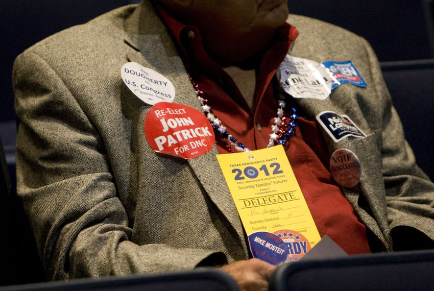 Delegate at Senate #15 Caucus at the Texas Democratic Party Convention in Houston, June 8, 2012.