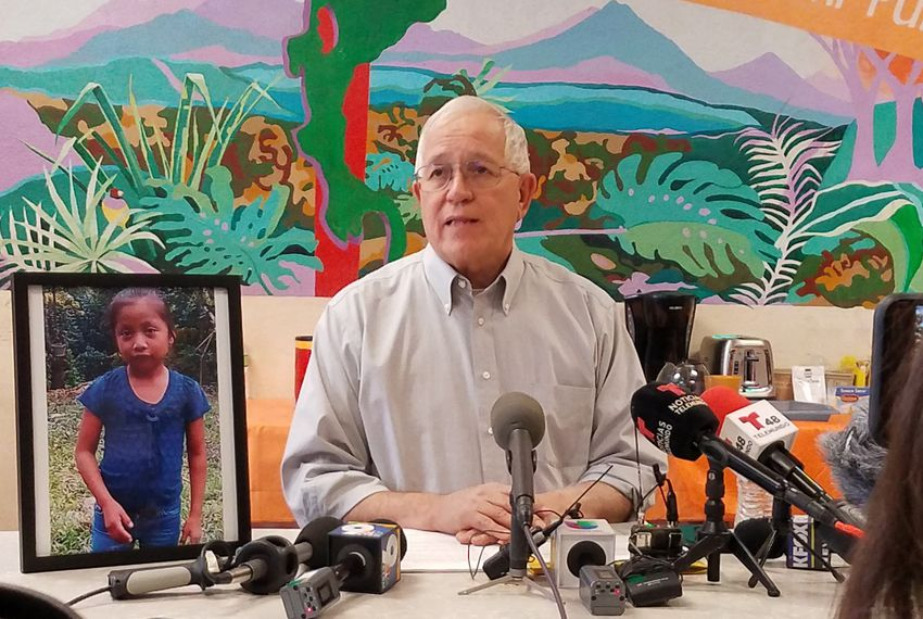 Ruben Garcia, the director of El Paso's Annunciation House, spoke to reporters in December about Jakelin Caal Maquin, a 7-year-old Guatemalan girl who died while in federal custody.