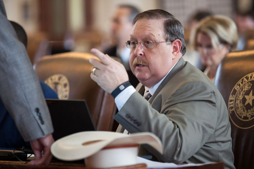 State Rep. Cecil Bell, R-Magnolia, in his seat on the House floor on May 14, 2015.
